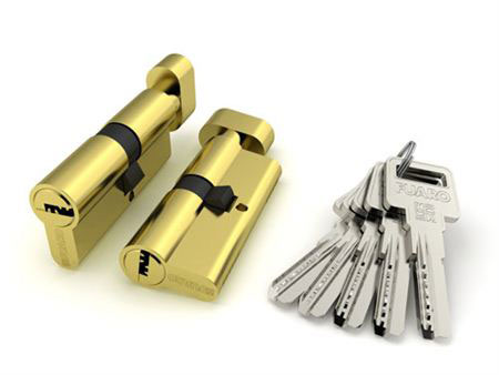 Цилиндровый механизм Fuaro К/В (Ключ/Вертушка)