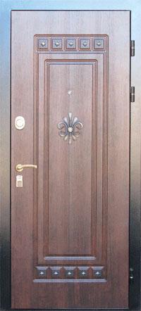 МДФ Фрезерованная ламинированная панель с элементами ковки
