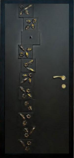 Панели фрезерованные ламинированные с объёмным декором Д12