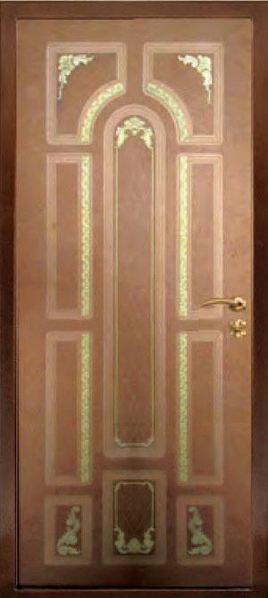 Панели фрезерованные ламинированные с объёмным декором Д7