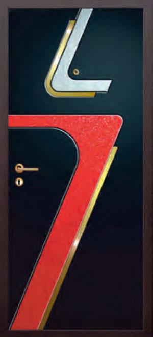 Панели фрезерованные ламинированные с объёмным декором ОМ25
