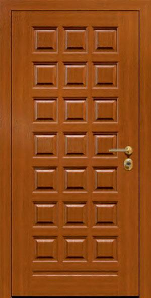 Панели для стальных дверей из массива натурального дерева: сосна и дуб М1