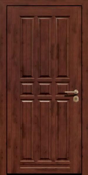 Панели для стальных дверей из массива натурального дерева: сосна и дуб М13