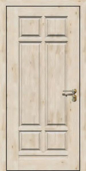 Панели для стальных дверей из массива натурального дерева: сосна и дуб М15