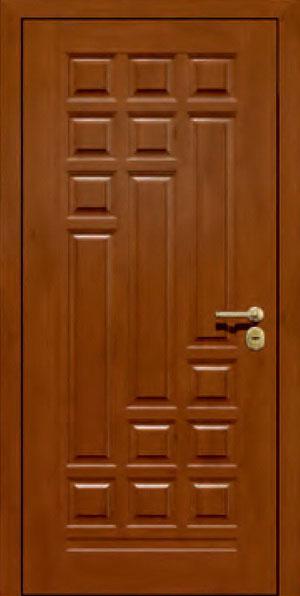 Панели для стальных дверей из массива натурального дерева: сосна и дуб М16