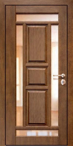 Панели для стальных дверей из массива натурального дерева: сосна и дуб М2
