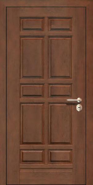 Панели для стальных дверей из массива натурального дерева: сосна и дуб М6