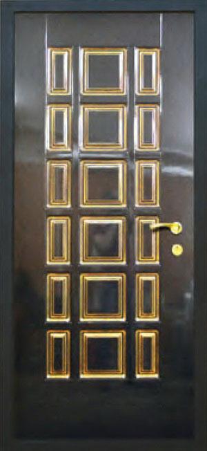Окрашенные декоративные панели для входных стальных дверей ПК1