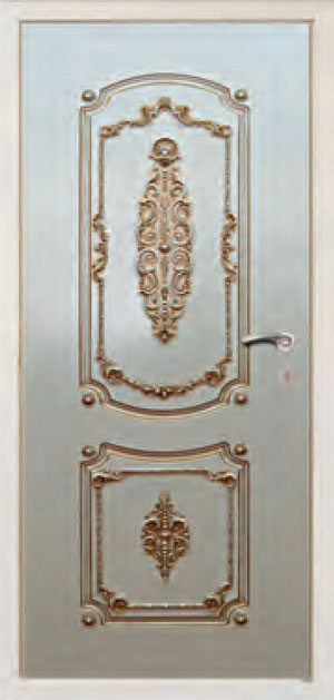 Окрашенные декоративные панели для входных стальных дверей ПК2