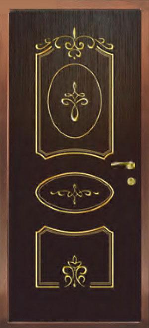 Окрашенные декоративные панели для входных стальных дверей ПК4