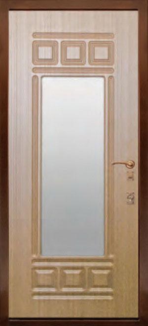 декоративная фрезерованная ламинированная панель с зеркалом для стальной двери ФЛЗ-12