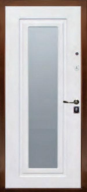 декоративная фрезерованная ламинированная панель с зеркалом для стальной двери ФЛЗ-120