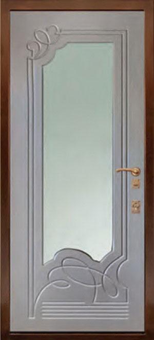 МДФ Фрезерованная ламинированная панель с зеркалом