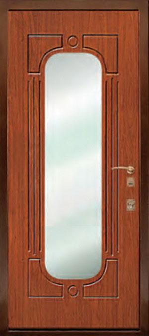 декоративная фрезерованная ламинированная панель с зеркалом для стальной двери ФЛЗ-148