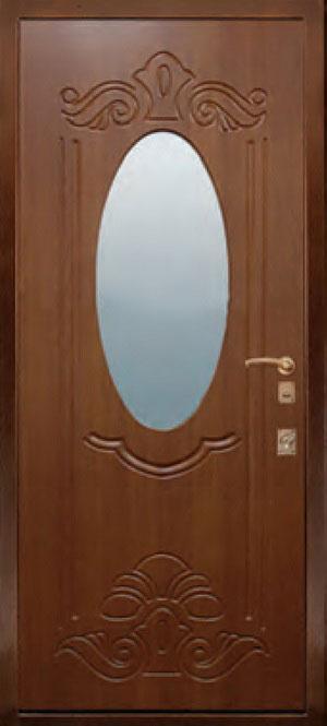 декоративная фрезерованная ламинированная панель с зеркалом для стальной двери ФЛЗ-150