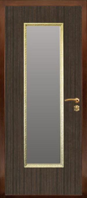 декоративная фрезерованная ламинированная панель с зеркалом для стальной двери ФЛЗ-154