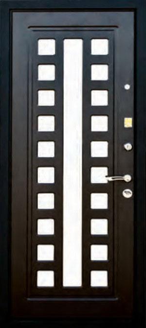 декоративная фрезерованная ламинированная панель с зеркалом для стальной двери ФЛЗ-155