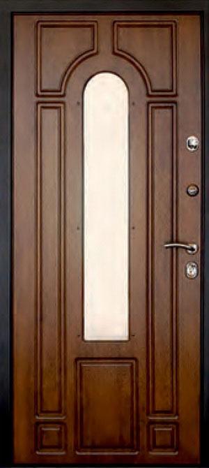 декоративная фрезерованная ламинированная панель с зеркалом для стальной двери ФЛЗ-205