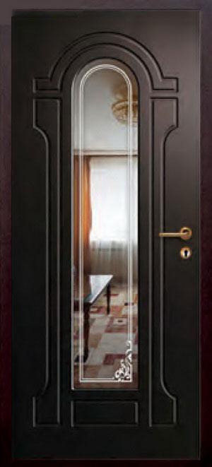декоративная фрезерованная ламинированная панель с зеркалом для стальной двери ФЛЗ-224
