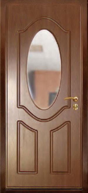 декоративная фрезерованная ламинированная панель с зеркалом для стальной двери ФЛЗ-5